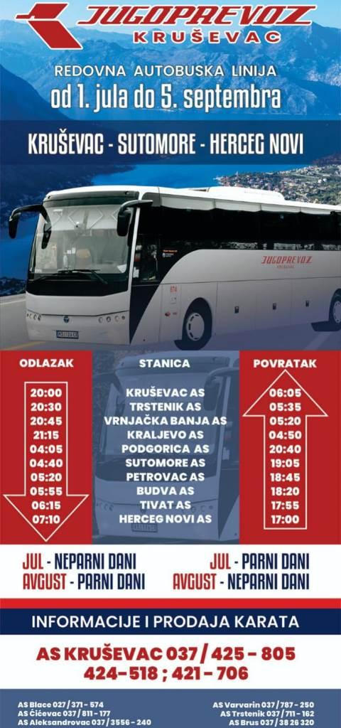 JugoprevozKS redVoznjeCG21