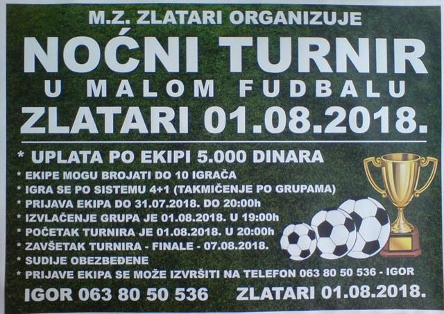 Zlatari TurnirMF2018